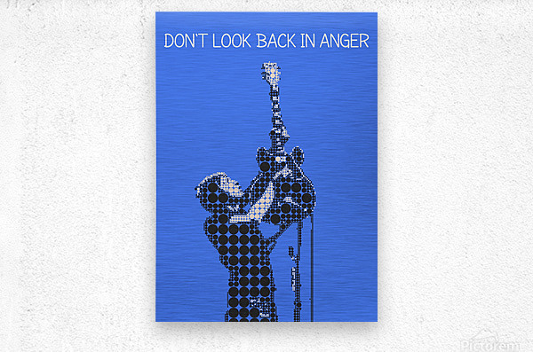 Dont Look Back In Anger   Noel Gallagher  Metal print