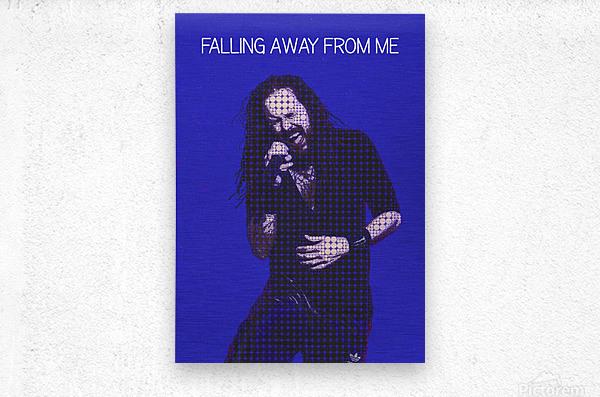 Falling Away from Me   Jonathan Davis   Korn  Metal print