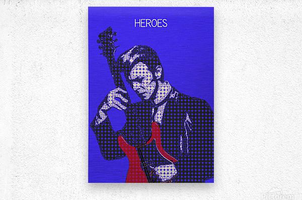 Heroes   David Bowie  Metal print