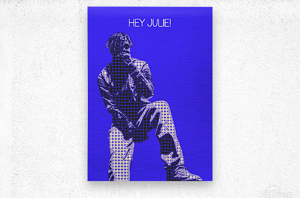 hey julie   Lil Yachty  Metal print