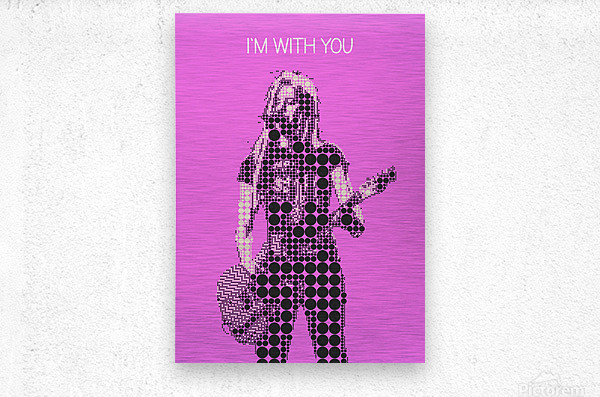 im with you   Avril Lavigne  Metal print