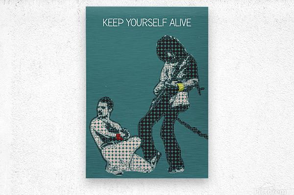 Keep Yourself Alive   Queen  Metal print