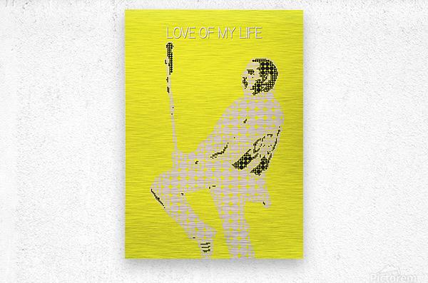 Love of My Life   Freddie Mercury  Metal print