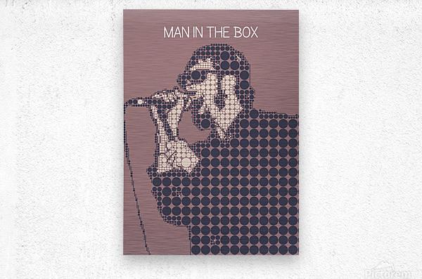 Man in the Box   Layne Staley  Metal print