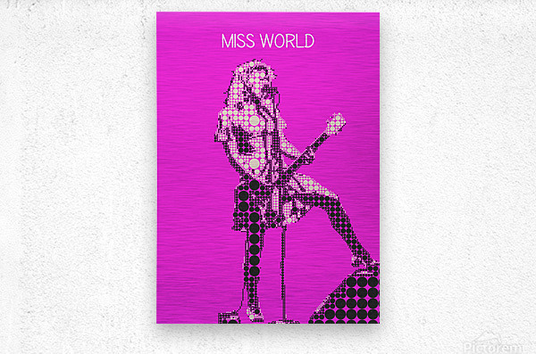 miss world   Courtney Love   Hole  Metal print