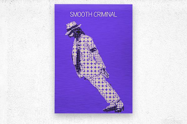 michael jackson_Smooth Criminal  Metal print