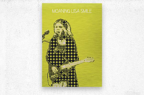Moaning Lisa Smile   Wolf Alice  Metal print