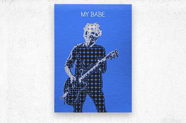 My Babe   Keith Richards  Metal print
