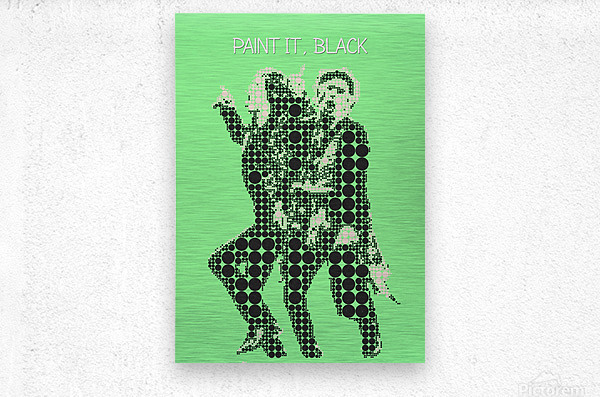 Paint it Black   Mick Jagger and Keith Richards  Metal print