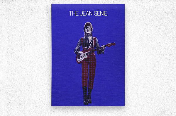 The Jean Genie   David Bowie  Metal print