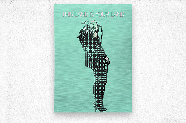 This Land is Your Land   Taylor Momsen  Metal print