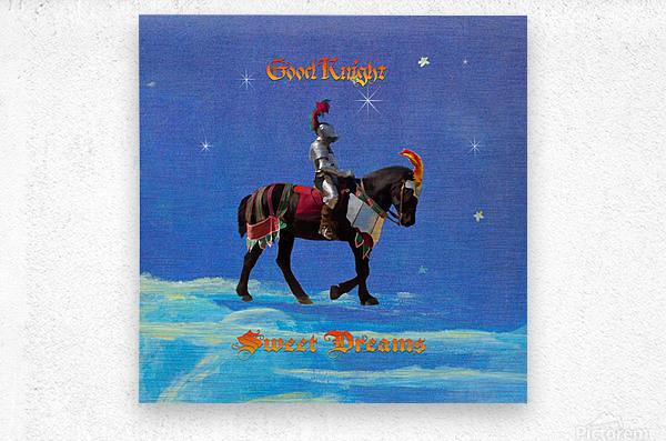 Good Knight  Sweet Dreams  Metal print