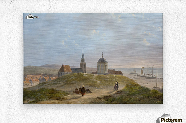View on Scheveningen  Metal print