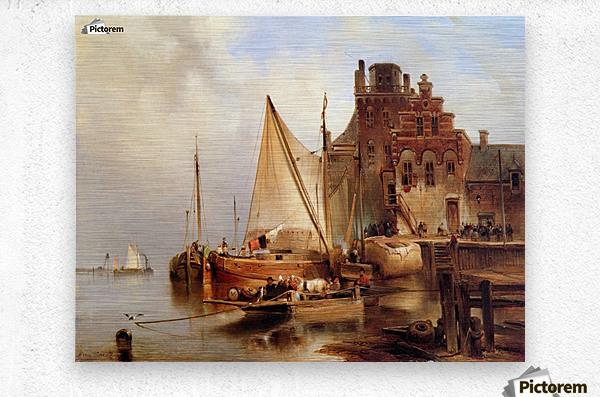 Hove van H - The ferry - Sun  Metal print
