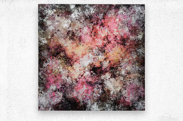 Pink stone  Impression metal
