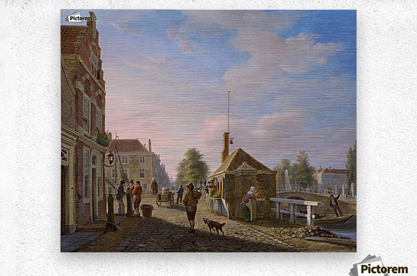 The Spui in The Hague  Metal print