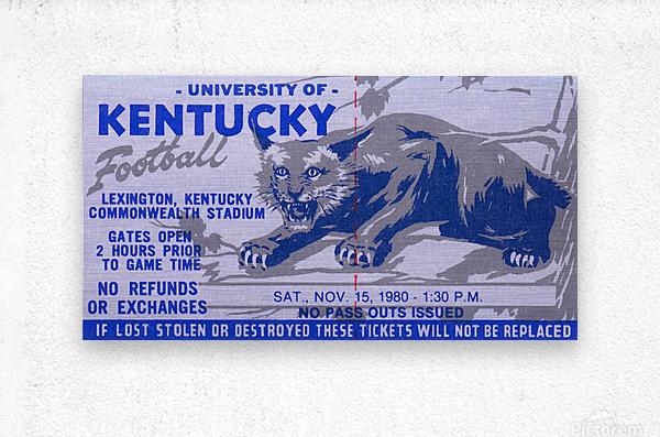 university kentucky wildcats football ticket stub wall art  Metal print