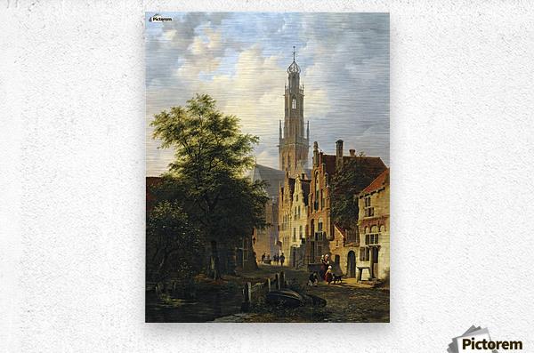 Bakenesserkerk seen from The Valkestraat, Haarlem  Metal print