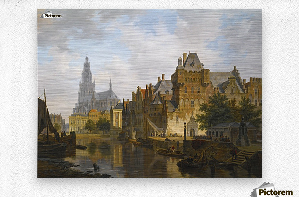 A Capriccio View Of The Hofvijver, The Hague  Metal print