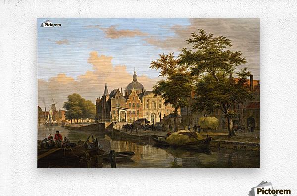 View of a Dutch City  Metal print