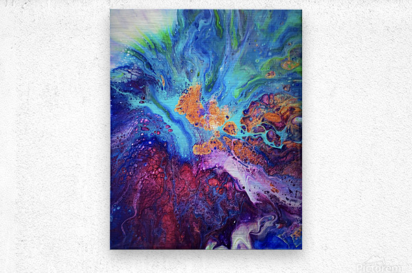 Colored by You  Metal print