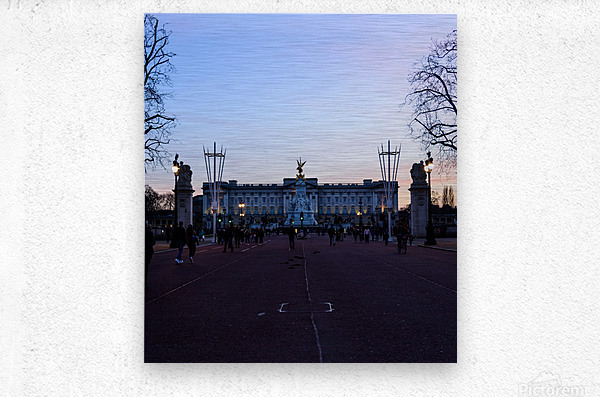 Dusk at Buckingham Palace London  Metal print