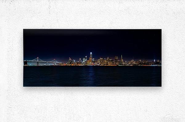 San Francisco City Skyline Panorama  Metal print