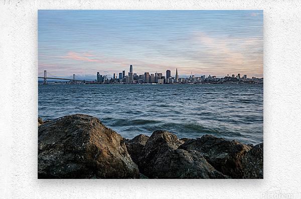 San Francisco City Skyline At Sunset  Metal print