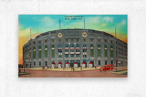 1935 Vintage New York Yankees Stadium Art  Metal print