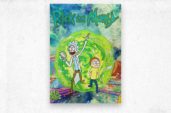 Rick and morty_   Metal print