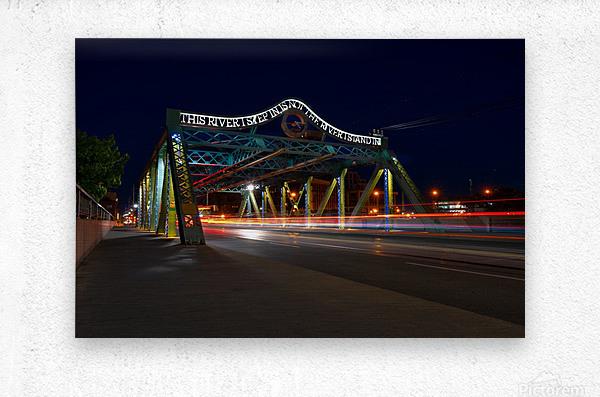 Queen St Viaduct  Metal print