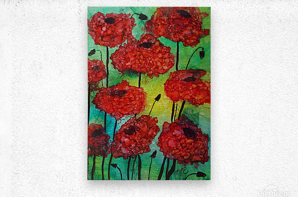 Thinking of Poppies  Metal print