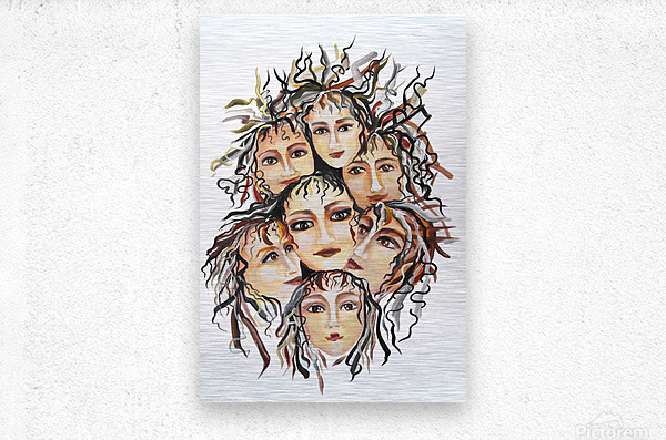 Pop Surrealism Energy  Metal print