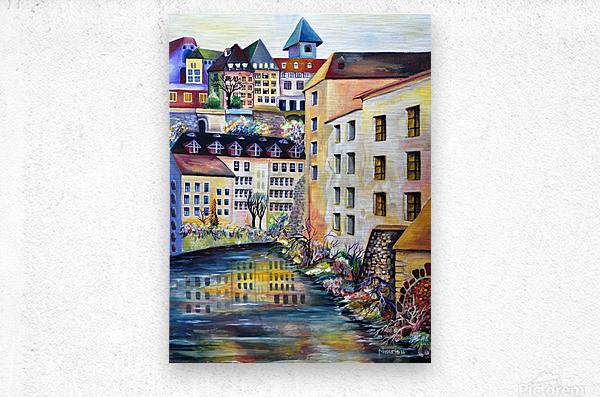 Sweden Stockholm Gamla Stan Watercolor  Metal print