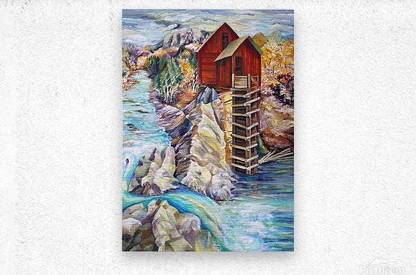 Colorado Rocky Mountains Crystel Mill River   Metal print