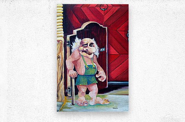 Scandinavian Folklore Troll Artwork   Metal print
