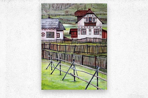 Landscape Transylvania Romania   Metal print