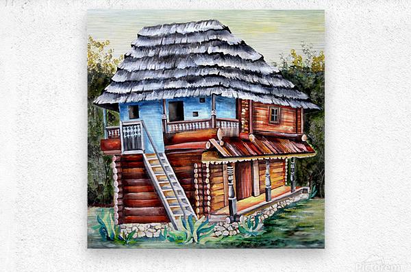 Romania Transylvania  Heritage House  Metal print