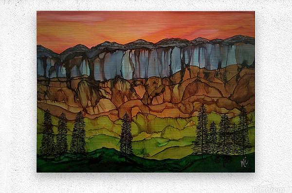 Weeping Cliffs  Metal print