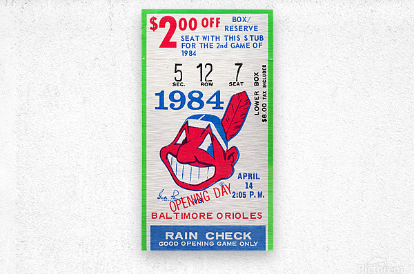 cleveland indians gift ideas fathers day ohio  Metal print