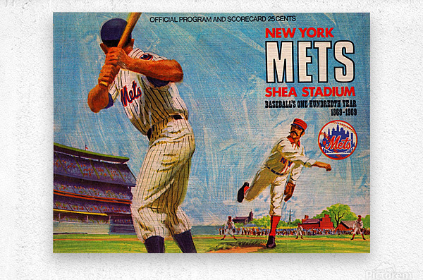 1969 New York Mets  Metal print