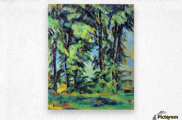 High trees in the Jas de Bouffan by Cezanne  Metal print