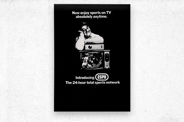 1981 ESPN Print Ad  Metal print