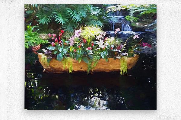 Floating Botanicals  Metal print