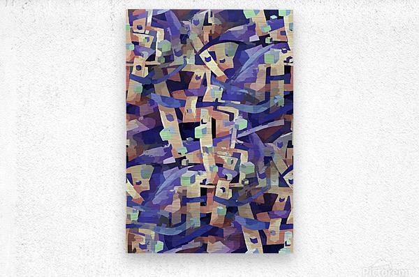 Seamless Geometric Vivid Abstract  Metal print