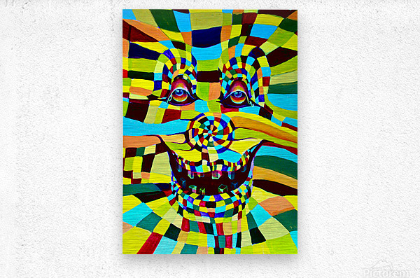 Watecolor Contermporary Pop Surrealism Clown   Metal print