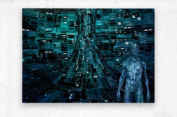 Cyborg Man  Metal print