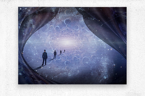 Man in Universe  Metal print