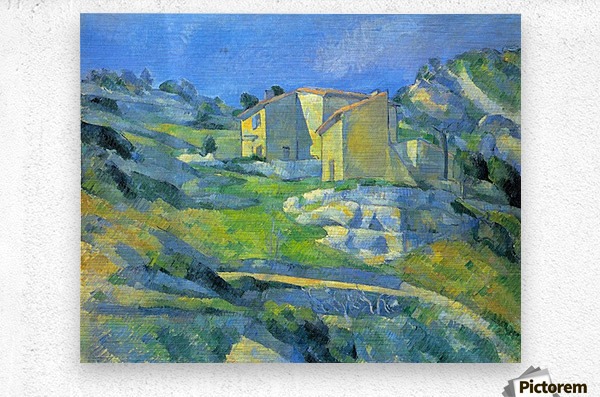House in the Provence by Cezanne  Metal print