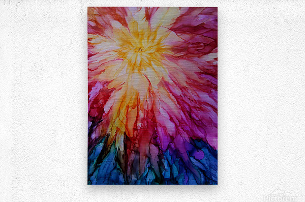 Rainbow Bloom  Metal print